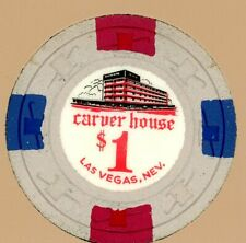 $1 Chip from the Carver House Casino, Las Vegas