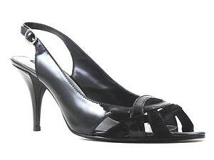 Bandolino Women's Goldf Slingback Black Patent Leather Size 10 M