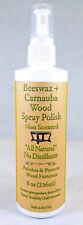 Wood Polish Beeswax & Carnauba Spray 8 Oz Bottle..All Natural/NO Distillants