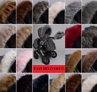Luxury Fur Pram Hood Fur Trim Baby Pram Accessory Buggy Stokke Bugaboo Mima Egg