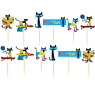 PETE THE CAT BOOKS CAKE TOPPER TOPPERS CUPCAKE BALLOON SUPPLIES DECORATIONS