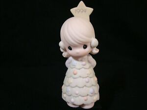 Precious Moments-Girl w/Christmas Dress/Star-Limited Edition 1994