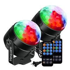 NEQUARE [2-Pack] Party Lights Sound Activated Disco Ball Strobe Light 7 Lighting