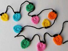 Fairy Lights Coloured Bunting Garland Crochet Handmade Decor Gift