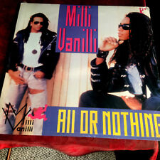 "MILLI VANILLI - ALL OR NOTHING - 12"" VINYL SEALED 1989 PIC COVER 1ST PRESS USREM"