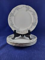 "MIKASA BARBIZON 9289 FINE CHINA 4 SALAD PLATES 7 1/2"" DIAMETER. BEAUTIFUL PIECES"