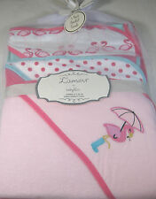 L'Amour 3 Pk. Hooded Baby Towels by Babykiss for Baby Girls  Asst.Designs