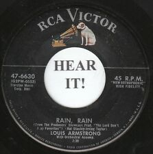 Louis Armstrong JAZZ (RCA Victor 6630) Rain, Rain/I Never Saw a Better  VG++/M-
