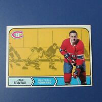 JEAN BELIVEAU 1968-69 O-Pee-Chee # 166   MONTREAL CANADIENS  OPC 68-69  EX+