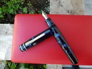 Marlen Ulysses Fountain Pen. Italian Resin, Silver. Old Collection:1999 BrandNew
