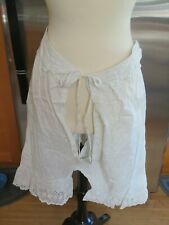 Vintage 100% cotton Victorian bloomers Open crotchless   Drawstring lace