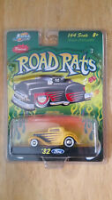 Jada Road Rats 32 1932 Ford Coupe Yellow w/Black Diecast Rubber Tires 1/64 Scale