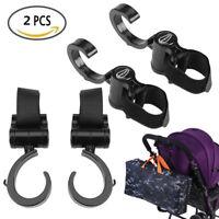 Baby Car Stroller Buggy Pram Clip Hook Hanger Bags ABS Hooks Black Accessories