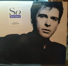 Peter Gabriel So LP Original US Pressing Gold Stamped Promo Hype Sticker NM / NM