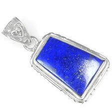 Fine 925 Sterling Silver Natural High Quality Lapis Pendant Jewelry 5.34 Grams $