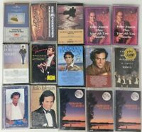 Lot of 15 romantic music cassette Domingo Iglesias Pavarotti Mancini & More
