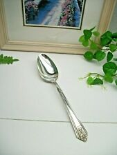 International Silver  ROYAL SAXONY  Silverplate Solid Serving Spoon  1935