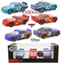 Disney Store Cars 3 Die Cast Cal Weathers Bobby Swift Lt McQueen 3 Set 1:43 NEW