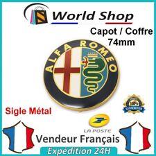 Embleme Capot / Coffre Alfa Romeo 74mm Métal sigle emblem badge logo doré TB