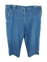 Karen Scott Petite Women's sz 16P Cotton Spandex Blend Blue Capri Cropped Jeans
