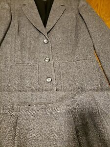VTG PENDLETON Womens Suit Set Sz 10 Plaid 100% Virgin Wool gray