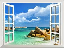 "Wall Mural - Tropical Landscape Seychelles Paradise - 36""x48"""