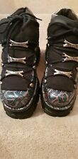 New Rock leather boots shoes, green silver, size 7 / 40, new