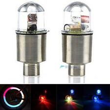 1 Pair LED Cycling Bike Bicycle Neon Car Wheel Tire Valve Caps Wheel Lights KJC