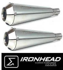 2 SILENCIEUX IXIL IRONHEAD INOX ROYAL ENFIELD CONTINENTAL GT / INTERCEPTOR 650