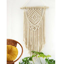 Macrame Woven Wall Hanging Boho Chic Bohemian Room Geometric Decoration Tapestry