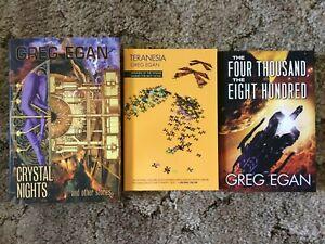 Greg Egan bundle: CRYSTAL NIGHTS + THE FOUR THOUSAND THE EIGHT HUNDRED+TERANESIA