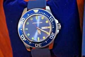 ARAGON Men's 50mm Professional Diver Automatic SII NH36A 24 Jewels Movement