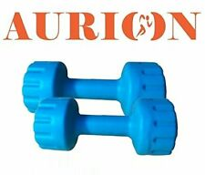 Set of 2 PVC Dumbbells Weights Fitness Home Gym Exercise Barbell- 5 kg each
