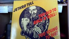 VENDS 33T  JETHRO TULL  TOO OLDTO ROCK'N' ROLL ref 1111
