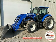 2013 New Holland T4105a Tractor With Loader Cab 4x4 3 Point 540 Pto 544 Hour