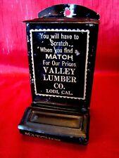 Rare - Valley Lumber Co. - Lodi California - Match Holder - Strike Anywhere L@@K