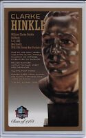 Clarke Hinkle Pro Football Hall of Fame Bronze Bust Card 100/150