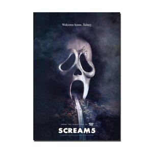 Scream 5 Horror Movie Silk Canvas Poster Print Wall Art Painting Room Decoration
