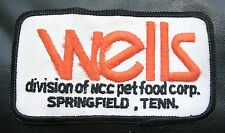 WELLS EMBROIDERED SEW ON PATCH DIVISION OF NCC PET FOOD SPRINGFIELD, TENN.