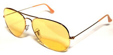 RAY BAN 3025 62 AVIATOR GOLD ORO YELLOW GIALLO AMBERMATIC PERSONALIZZATO REMIX