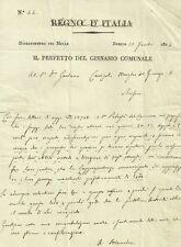 Regno d'Italia Dipartimento del Mella Brescia Prefetto Ginnasio Comunale 1814