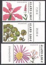 Aland 2007 Waterside Plants/Nature/Flowers/Aster/Angelica 3v set (n39649)