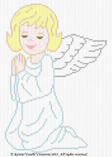 Crochet Patterns - ANGEL PRAYING Color Graph Pattern