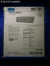 Sony Service Manual MV 101 DVD Player (#6208)