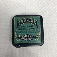 Vintage TRU LAX The True Chocolate Laxative Old Tin Metal Box