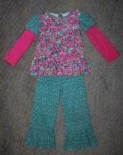 Flit & Flitter Girls 2 Piece Pant Set - Size 4 - EUC