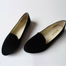 Womens  Ballerina Ballet Dolly Pumps Ladies Flats Loafers Shoes Black Size