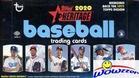 2020 Topps Heritage Baseball HUGE Factory Sealed HOBBY Box-AUTO/RELIC+BOX LOADER