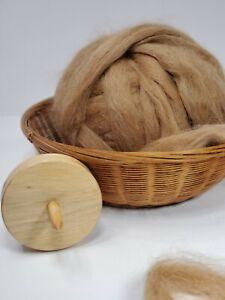 100% Alpaca Roving - Medium Fawn - Suri - Natural