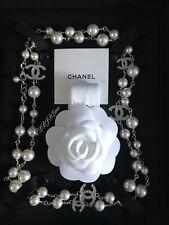 NWT CHANEL Antique Fleur De Strass Pearl Crystal Necklace 5 CC 2018 Rare Classic